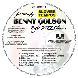 "Vol. 14 ""BENNY GOLSON"" SLOWER CD"