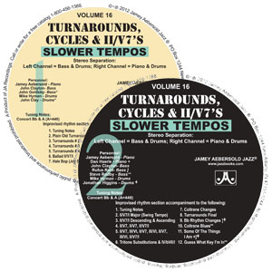 "Vol. 16 ""Turn Arounds"" Slower CDs"