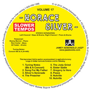 "Vol. 17 ""HORACE SILVER"" Slower CD"