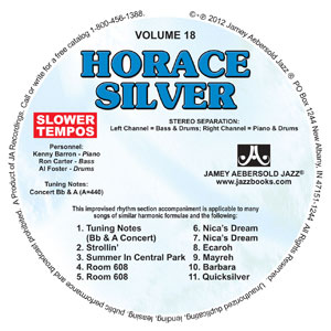 "Vol. 18 ""HORACE SILVER"" SLOW CD"