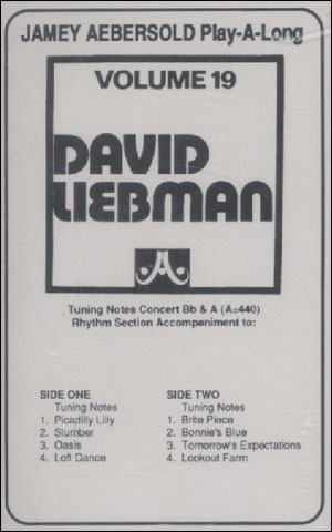Volume - 19 - David Liebman - CASSETTE ONLY