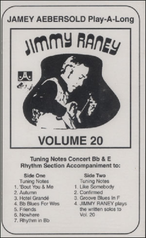 Volume 20 - Jimmy Raney - CASSETTE ONLY