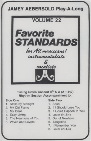 Volume 22 - Favorite Standards - CASSETTE ONLY