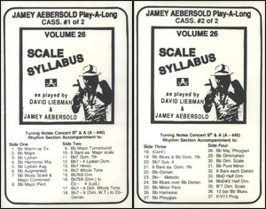 Volume 26 - The Scale Syllabus - 2 Cassettes Only