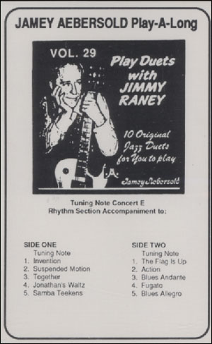 Volume 29 - Play Duets With Jimmy Raney - CASSETTE ONLY