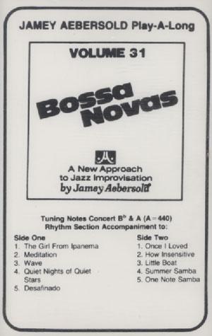 Volume 31 - Bossa Novas - CASSETTE ONLY