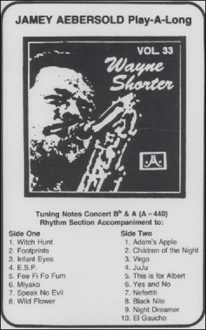 Volume 33 - Wayne Shorter - CASSETTE ONLY