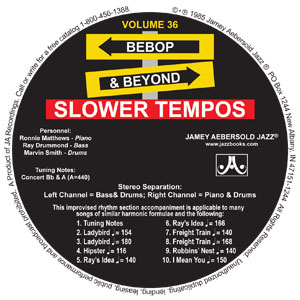"Vol. 36 ""BEBOP AND BEYOND"" SLOWER CD"