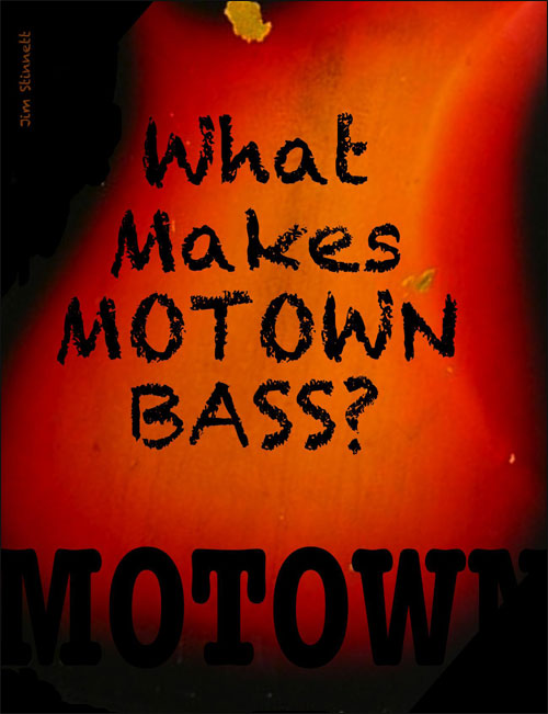 What Makes Motown Bass Motown?