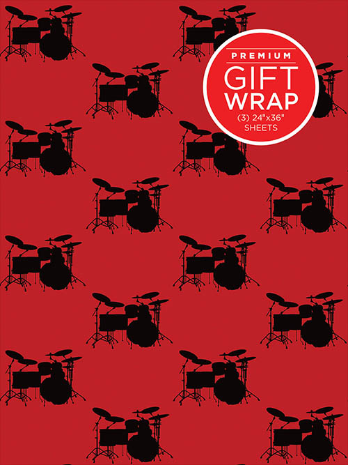 Holiday Wrapping Paper - Drumset Theme