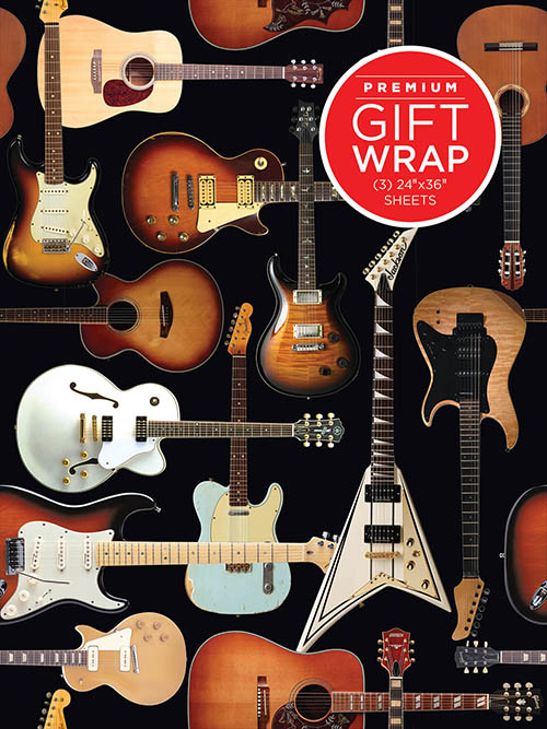 Holiday Wrapping Paper - Guitar Collage Theme