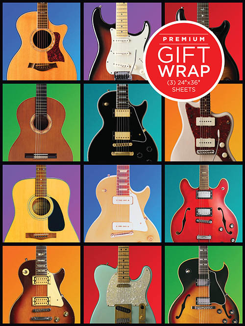 Holiday Wrapping Paper - Guitar Retro Theme