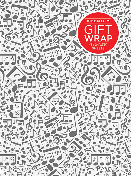 Holiday Wrapping Paper - Music Notes Theme