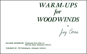 Warm-Ups for Woodwinds by Jay Corre