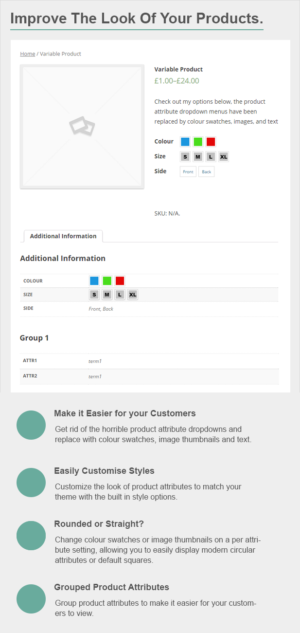 woocommerce attribute images and colour swatches