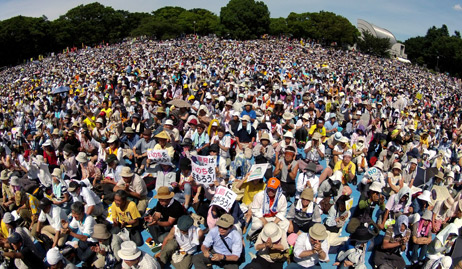 Nuclear-free movement attracts new breed to massive Tokyo rally
