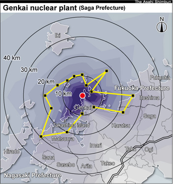 Radiation forecast maps corrected again for all nuke plants