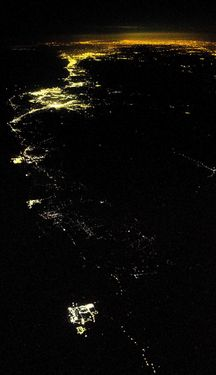 PHOTO: Fukushima plant shines in the darkness of night
