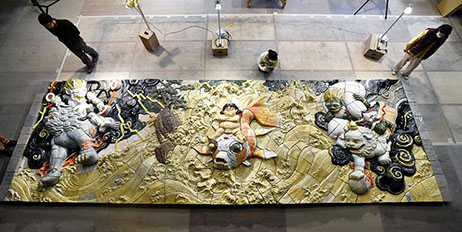 PHOTO: Giant 'recovery' artwork by 'Akira' creator Otomo unveiled for public