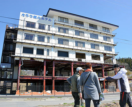 Ruins of hotel open to visitors as symbol of 2011 tsunami