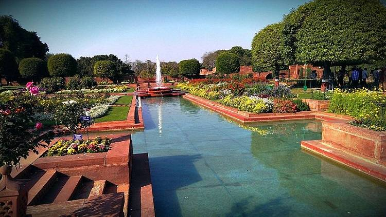 Mughal Gardens fountain