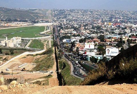 California and Mexico border