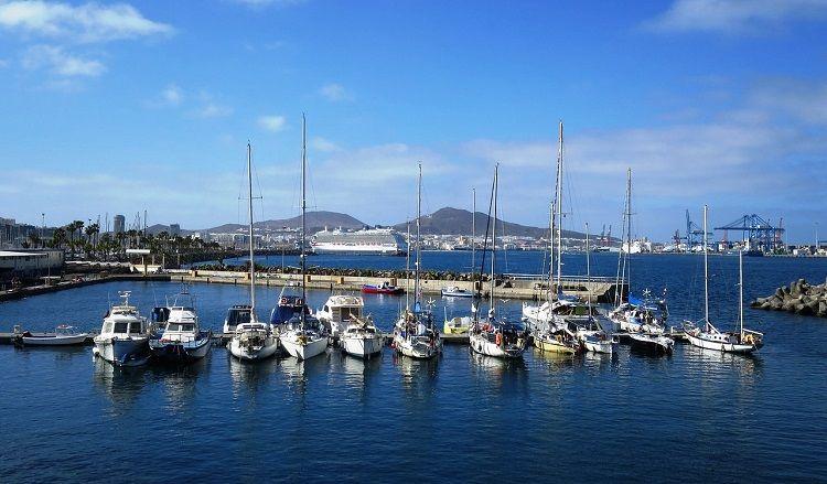 boats at Las Palmas