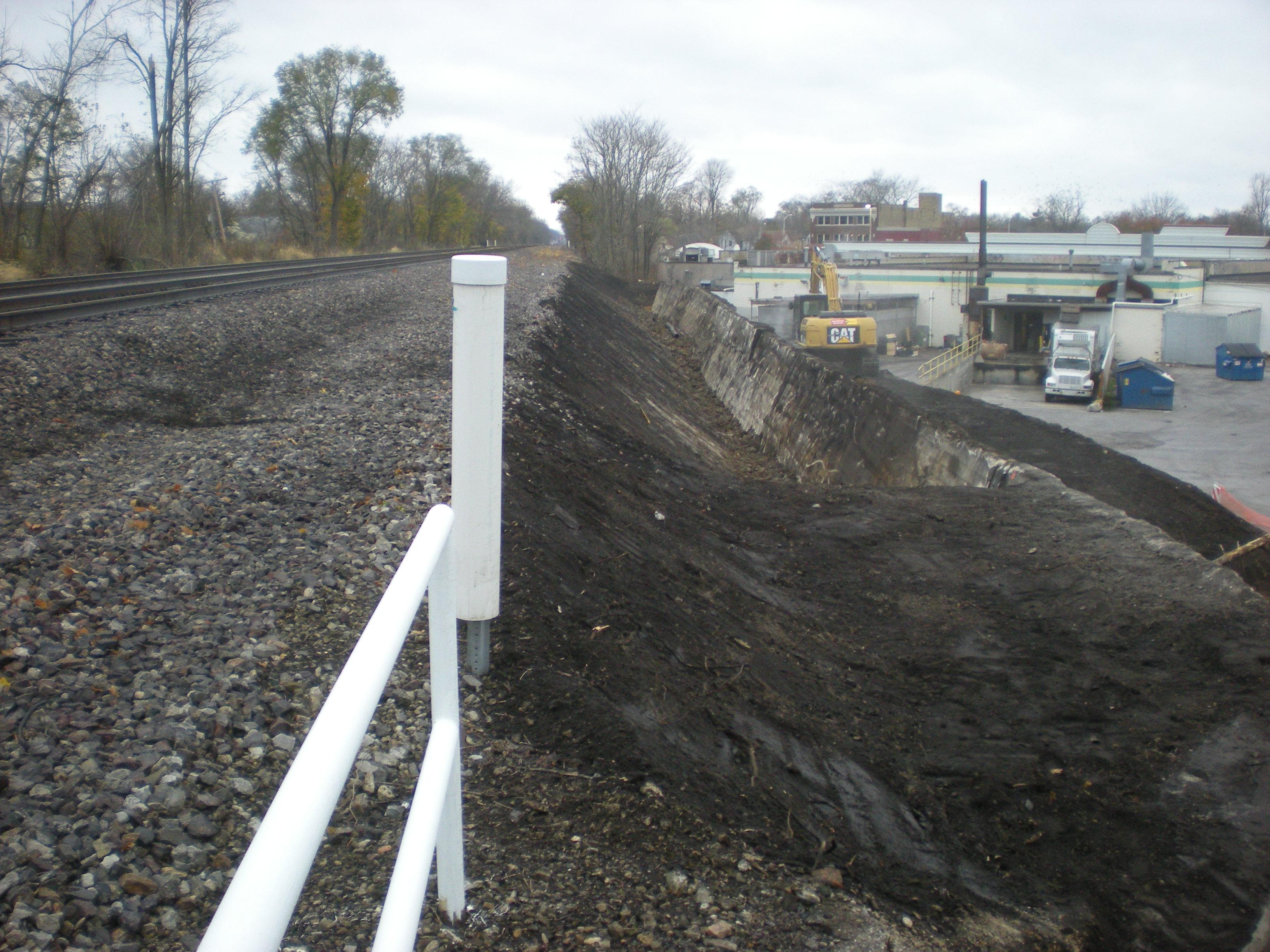 Fort Wayne wall excavation