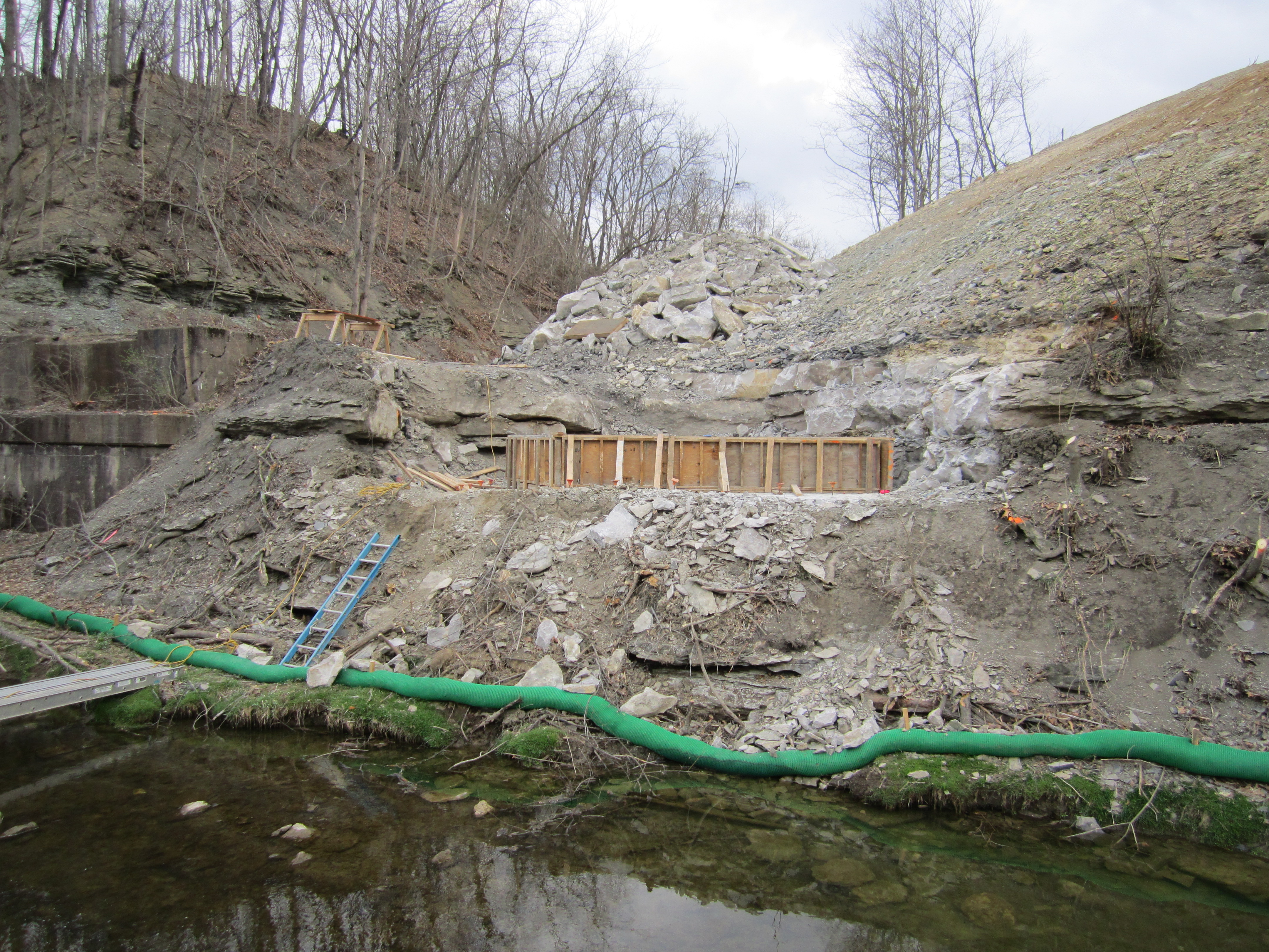 Montour Trail Abutment Forming