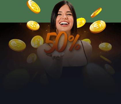 50% en cashback te espera