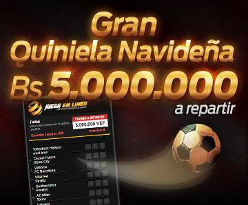 Quiniela Navideña Bs. 5.000.000 a repartir