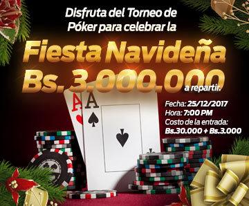 Torneo de póker Bs.3.000.000 a repartir