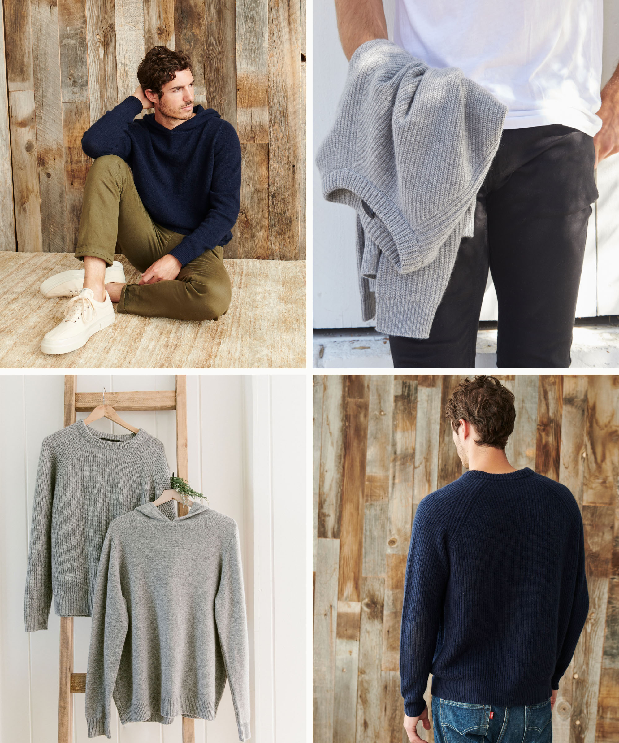 Men's Cashmere Fisherman Sweater
