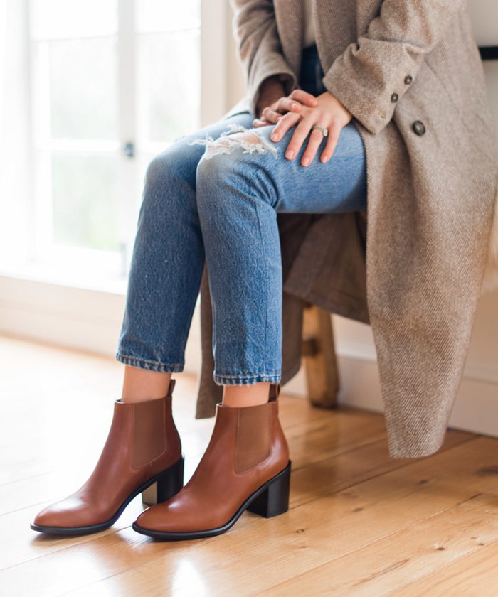 Introducing Our Heeled Chelsea Boot in Saddle