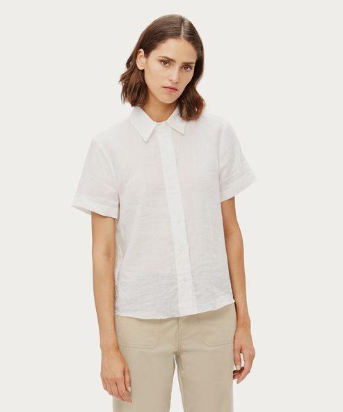 Lightweight Short Sleeve Button-Up