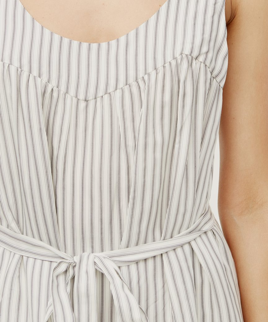 Striped Pintucked Sundress
