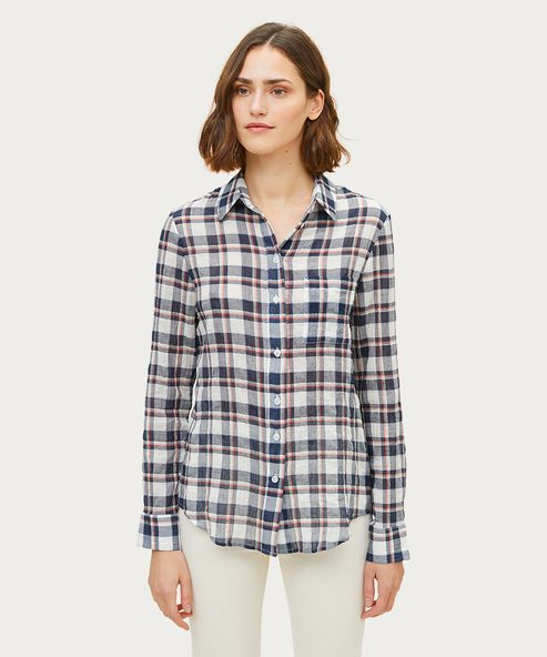 Plaid Classic Button-Up