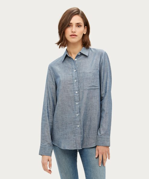 Chambray Classic Button-Up