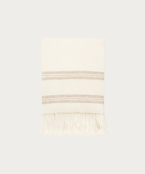 Striped Alpaca Throw