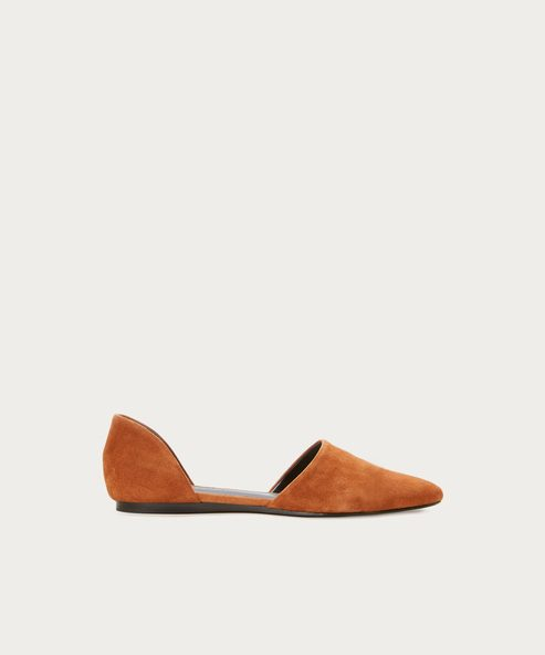 Suede D'Orsay Flat