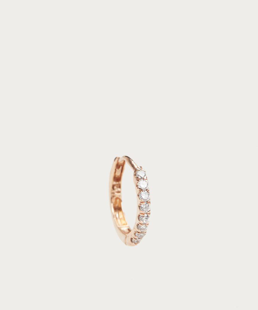 Huggies Large Diamond Hoop Earring