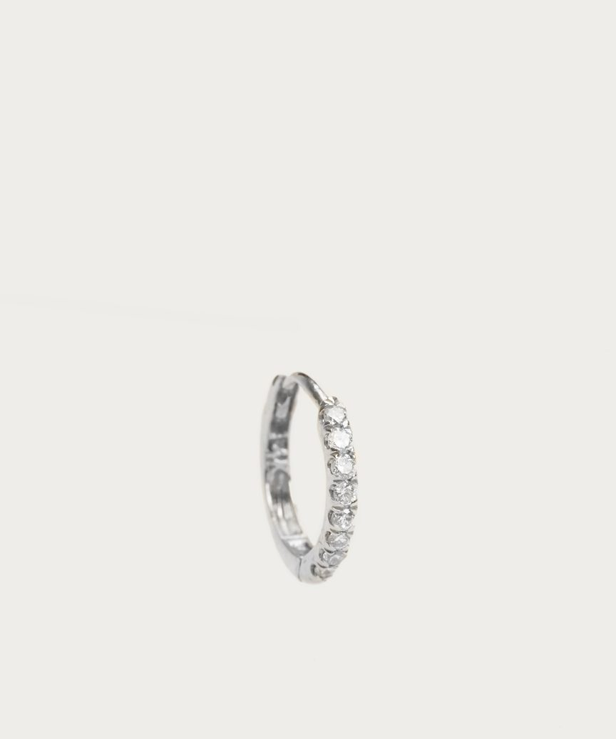 Huggies Large Diamond Hoop Earring