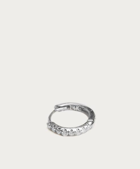 Huggies Medium Diamond Hoop Earring