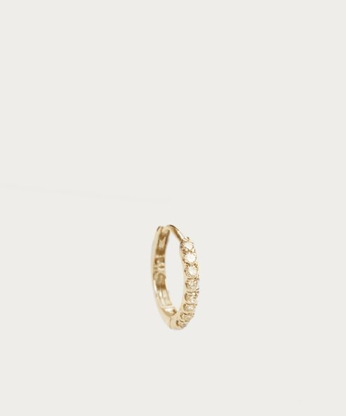 Huggies Medium Diamond Hoop Earring