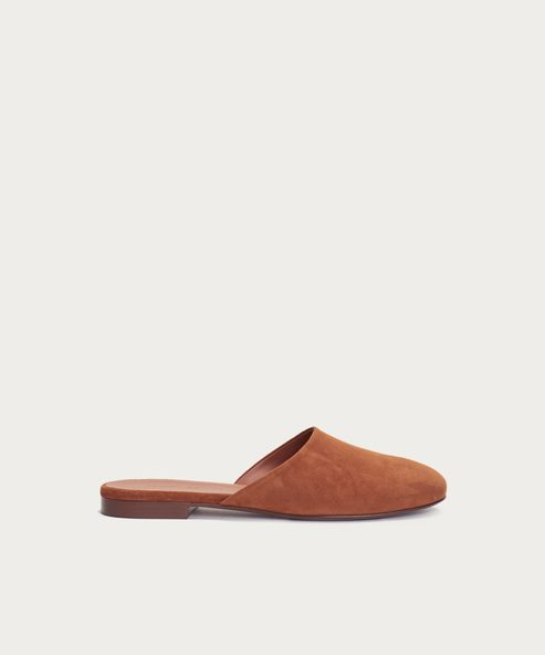 Suede Olympia Mule