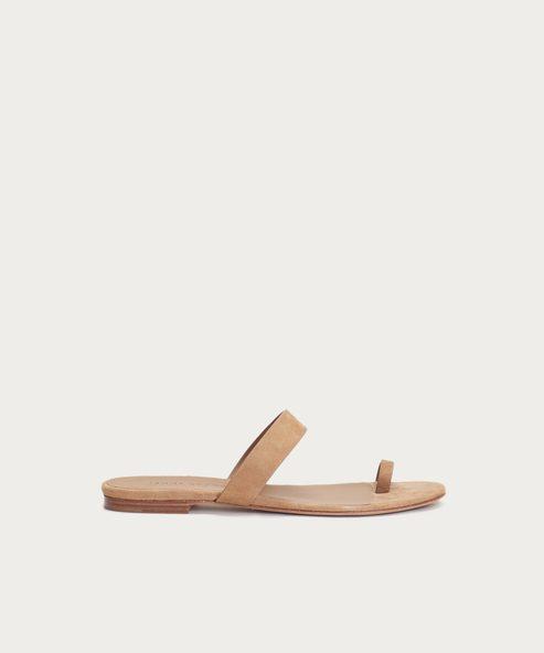 Suede Strap Sandal
