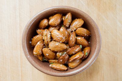 Toasted Almonds with Rosemary and Fleur de sel Recipe