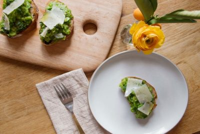 Fava Bean Toast with Mint, Lemon, and Parmigiano Reggiano Recipe