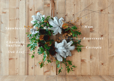 Floral Encyclopedia with Moon Canyon Design: An Autumnal Wreath