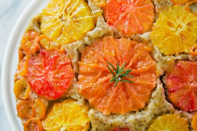 Citrus Almond Olive Oil Upside Down Cake Recipe